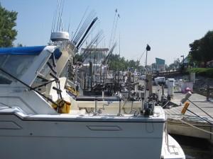 Charter fishing boats at the dock